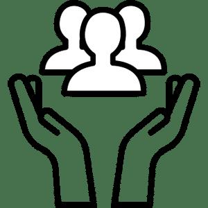Pictogramme symbolisant l'économie sociale et solidaire à l'Usine Végétale